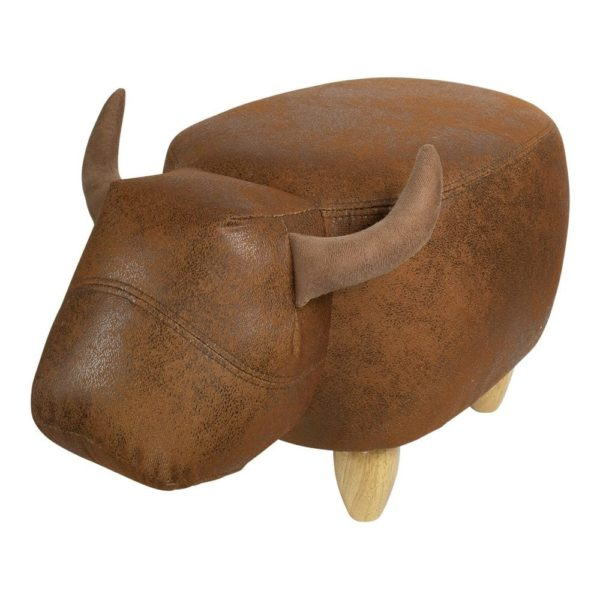 Stool Bull  Colored   Leather 60x32x36cm Mars & More